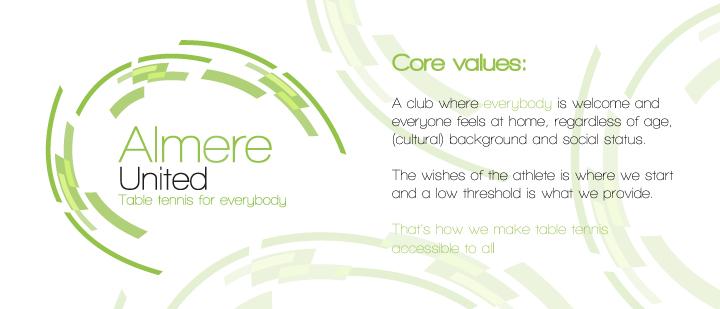 Core values Almere United